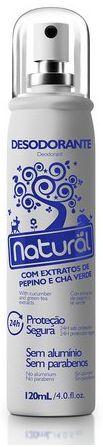 Desodorante Natural com extratos Pepino e Chá verde - Orgânico Natural