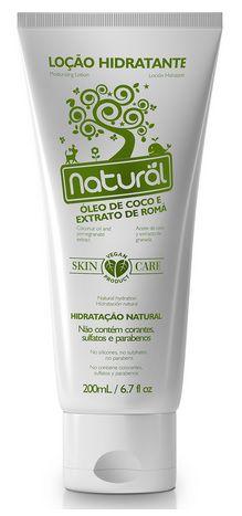 Loção Hidratante Natural com Óleo de Coco e Extrato de Romã - Orgânico Natural