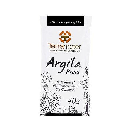 Máscara de Argila Preta Orgânica 40g - Terramater