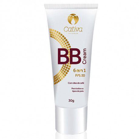 BB Cream 6 em 1 FPS 20 - Cativa Natureza