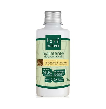 Hidratante Natural Amêndoa e Lavanda - Boni Natural
