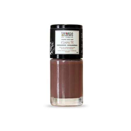 Esmalte Natural e Vegano Hipoalergênico e Fortalecedor Brown (608) - Twoone Onetwo