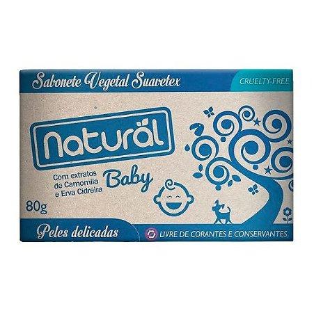 Sabonete Natural Suavetex Baby com Extratos de Camomila e Erva Cidreira - Orgânico Natural