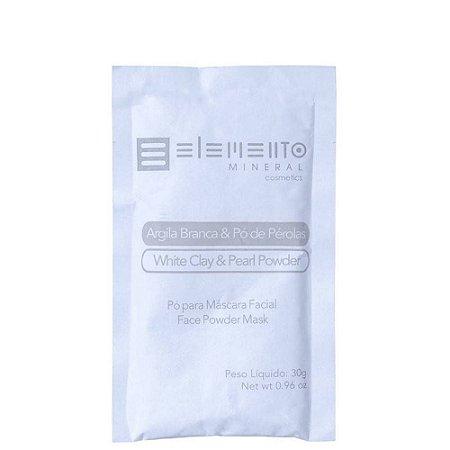 Argila Branca com Pó de Perolas 30g - Elemento Mineral