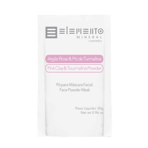 Argila Rosa com Pó de Turmalina 30g - Elemento Mineral