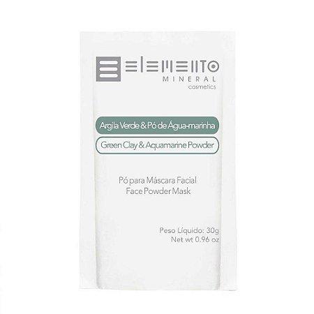 Argila Verde com Pó e Água-marinha 30g - Elemento Mineral