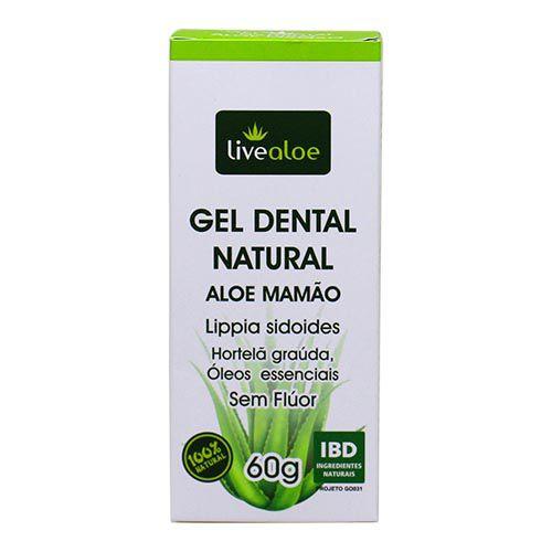 Gel Dental Natural Aloe e Mamão - Livealoe