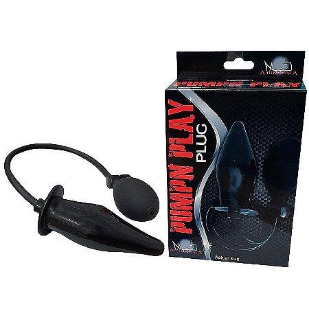 Plug Anal Inflável Pump Play - 12cm - SI5067