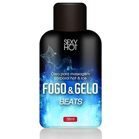 Óleo Beijável Beats Fogo & Gelo para Massagem 38ml