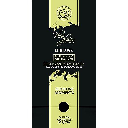 Sachets de Plaisir Lub Love - Gel de Massagem com Aloe Vera e Aroma de Baunilha com Limão