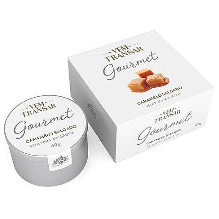 Vela Beijável para Massagem Vem Transar Gourmet Caramelo Salgado 40gr