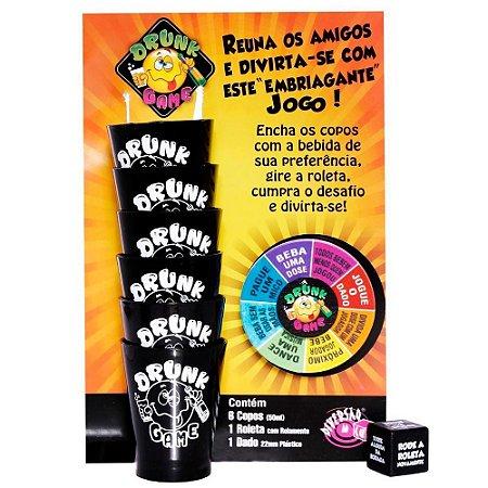 JOGO ERÓTICO DRUNK GAME COM COPOS DIVERSÃO AO CUBO - DG-01
