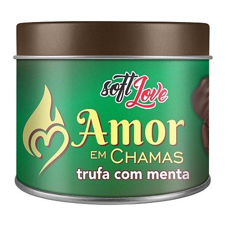 AMOR EM CHAMAS VELA HOT BEIJÁVEL TRUFA COM MENTA 50GR - SOFT LOVE