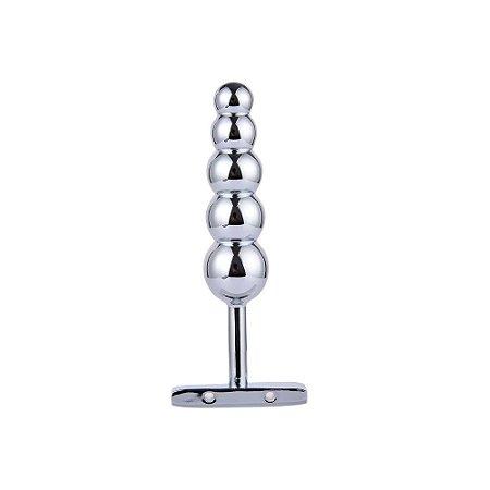 Plug anal feito de alumínio, com esferas de graduação que começam - PL068