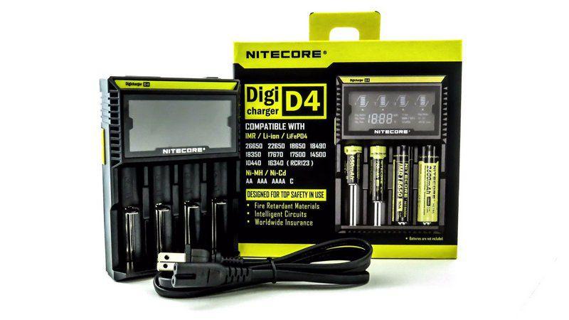 Carregador de Baterias - Nitecore D4