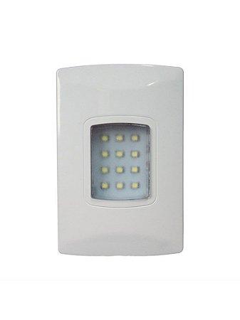 Iluminação de emergência autônoma LED 100 Lúmens de embutir Segurimax
