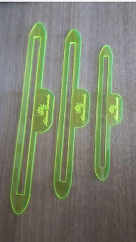 Réguas kit ziper 3 tamanhos de acabamento