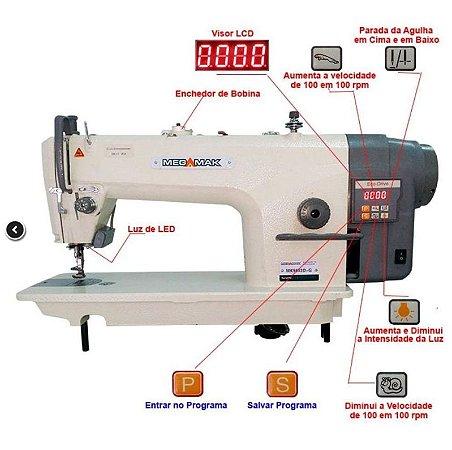 Máquina de Costura Reta Direct Drive MegaMak MK9803DG Bivolt