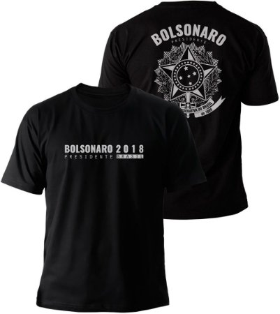 Camiseta Bolsonaro Presidente 2018 Brasão Brasil Costas