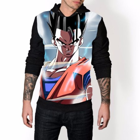 Blusa De Frio Dragon Ball Estampa Full Moletom Unissex REF 42