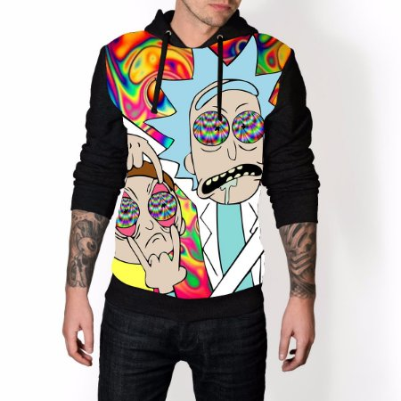 Blusa De Frio Rick e Morty  Estampa Full Moletom Unissex REF 61