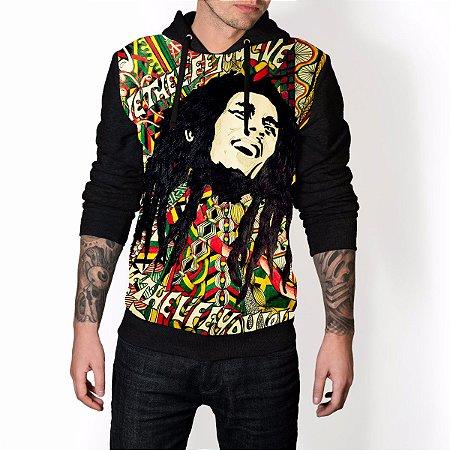 Blusa De Frio Bob Marley Estampa Full Moletom Unissex REF 65