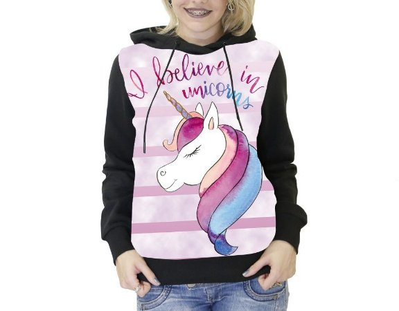 Blusa De Frio Unicornio Full Moletom Unissex