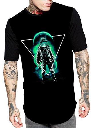 Camiseta Camisa Longline Estampa Full Astronauto Tumblr