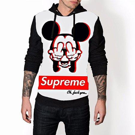 96a3208efd6 Blusa De Frio Supreme Mickey Full Moletom Unissex