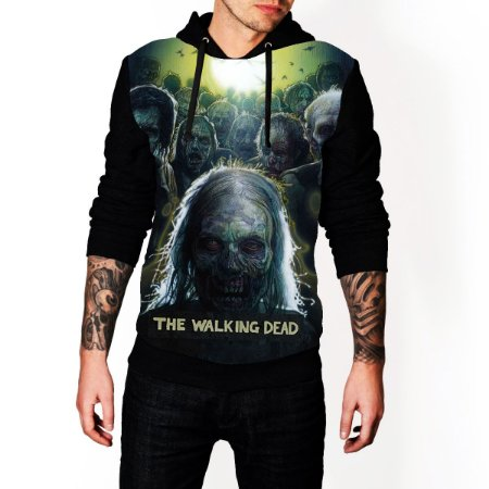 Blusa De Frio The Walking Dead Estampa Full Moletom Unissex