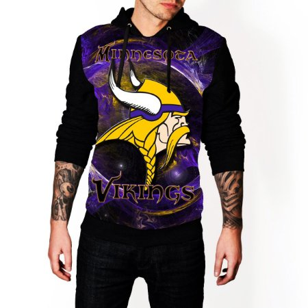 Blusa De Frio Vikings Estampa Full Moletom Unissex