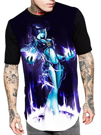 Camiseta Longline Estampa Full Lol Of Legends Game Unissex