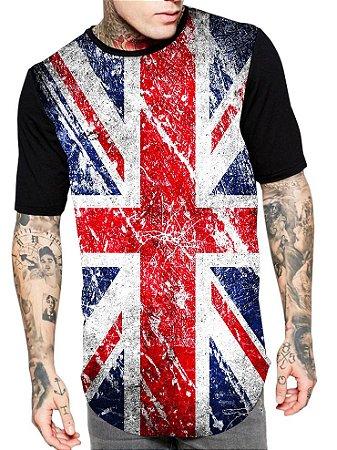 Camiseta Camisa Longline Estampa Full USA Unissex
