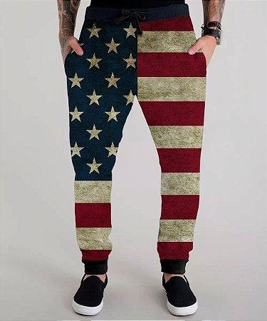 Calça Moletom Bandeira Estados Unidos Usa Flag América Usa