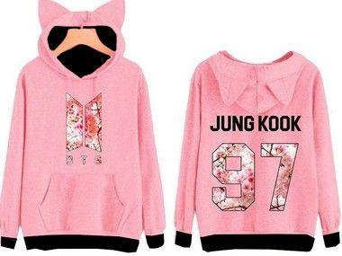 Blusa Moletom Com Orelhinha Bts Kpop Army Jungkook 97 Top !!