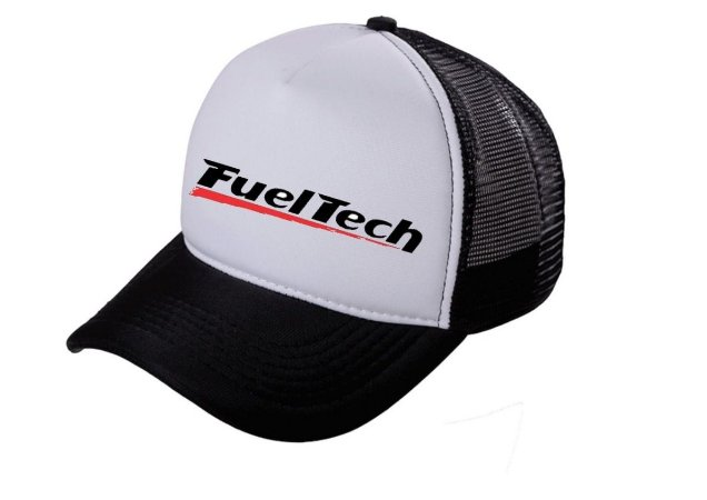 Boné Fueltech Trucker Tela Aba Curva Bone