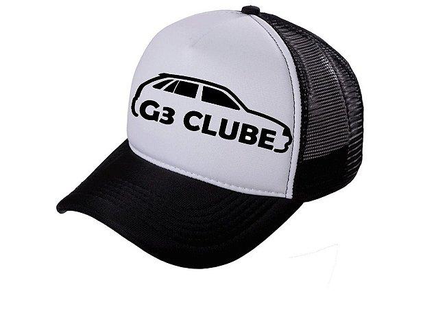 Boné G3 Clube Trucker Tela Aba Curva Bone Gol Volks