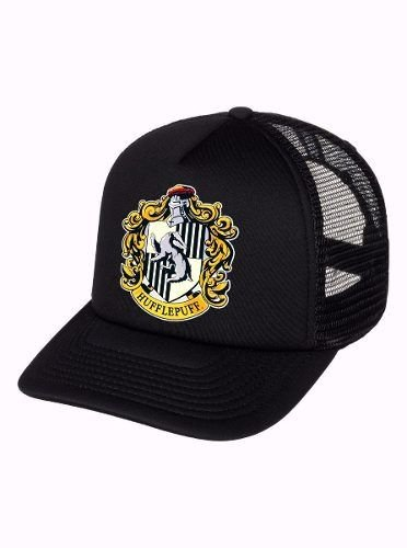 Boné Trucker Harry Potter Hogwarts Casa Lufa Lufa Aba Curv
