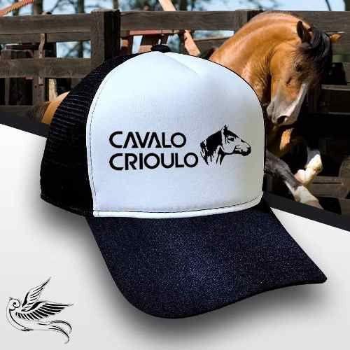 Boné Trucker Cavalo Crioulo Corrida Unissex Promoção Top