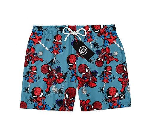 Short Bermuda Ney Moda Praia Mauricinho Personagem Spider Man