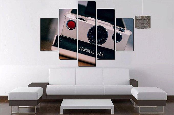 Quadro Mosaico 5 Partes Camera Fotografica 100cmx68cm