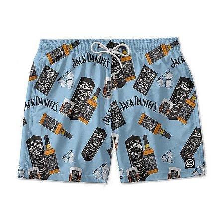 Short Bermuda Ney Moda Praia Mauricinho Bebidas - Whisky