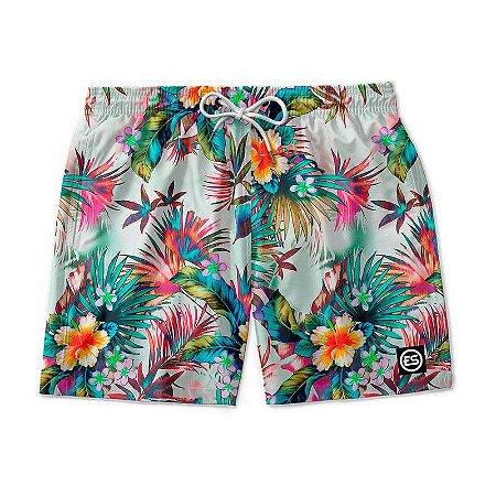 Short Bermuda Ney Moda Praia Mauricinho Estampa Floral