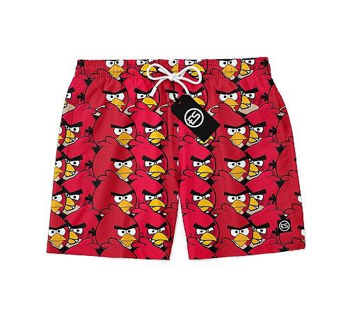 Short Bermuda Ney Moda Praia Mauricinho Estampa Angry Birds