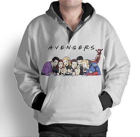 Blusa Moletom Com Capuz Full Vingadores Avengers