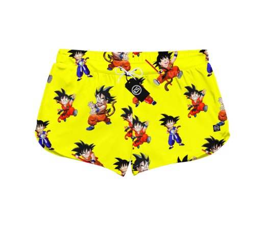 Short Feminino Moda Praia Patricinha Goku Dragon Ball