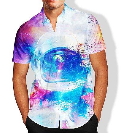 Camisa Astronauta Masculina Social Luxo Lançamento