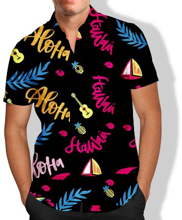 Camisa Aloha Masculina Social Luxo Lançamento