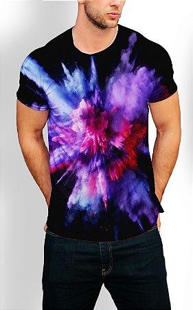 Camiseta Longline Estampa Full Colors Blasters
