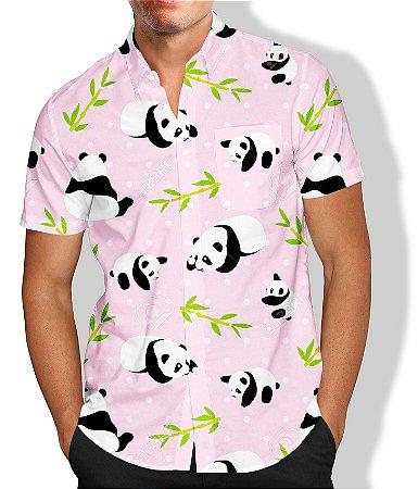 Camisa Masculina Social Luxo Panda Lançamento